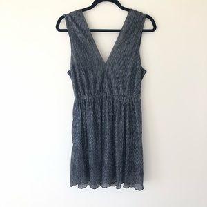 NWOT Metallic V-Neck Dress